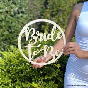 Wooden Bride To Be Bridal Hoop Wall Sign - 30cm