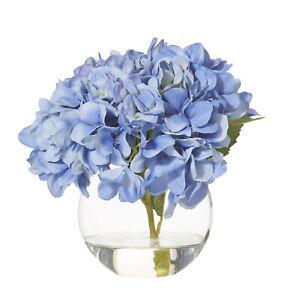 Rogue Hydrangea-Sphere Vase Blue/Glass 24x24x23cm