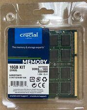 16GB  Kit (2x8GB) DDR3L-1600 SODIMM 1.35v CT2KIT102464BF160B Crucial Retail pack
