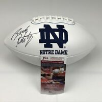 Autographed/Signed RUDY RUETTIGER Notre Dame Full Size Logo Football JSA COA