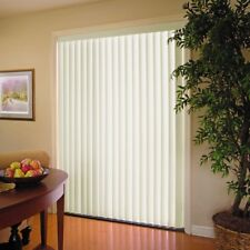 Window Blinds 78 in. x 84 in. Crown Alabaster Pvc Vertical Shade Room Darkening