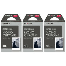 3 Packs 30 Photos Monochrome FujiFilm Fuji Instax Mini Film Polaroid 7S 8 SP-1
