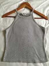 Guess black and white racer back top size medium