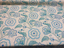 Richloom Cimmaron Blue Cobalt Floral Fabric By the yard