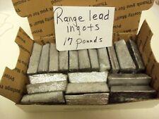 Range Lead ingots for casting, 17 pounds