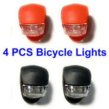Bicycle Light Front and Rear Silicone LED Bike Light Headlight & Taillight 4 Pcs