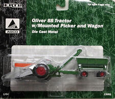 1/64 ERTL OLIVER 88 TRACTOR W/ MOUNTED PICKER & WAGON SET
