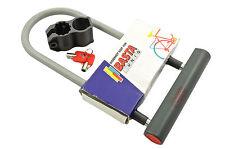 BASTA UNIQ SECURITY BIKE SHACKLE D-LOCK 185x330mm GREY QUALITY BRAND LOW PRICE