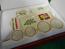 """Nib- Lenox """"For the Holidays"""" Holiday Train Spoon Rest.Sale"""