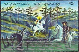 White Horse Princess Mythic Aland Finland Mint MNH Sheet 2008