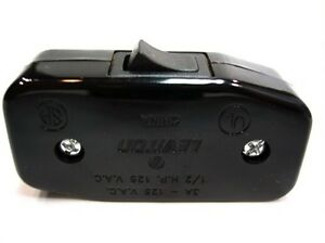 Cord Switch BLACK - UL Listed - Leviton Brand - Inline Cord Switch - Lamp Switch