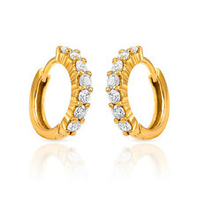 Mahi Gold Plated Radiance Delight Earrings with CZ ER1102337G