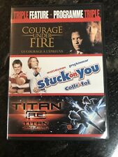 triple feature courage under fire+Stuck on you + Titan AE (dvd) (english+french)