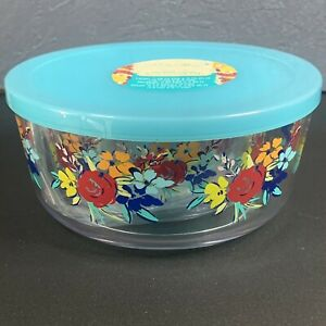 Pioneer Woman Birthday Floral Nesting Candy Bowl Set Of 3 Lids Acrylic