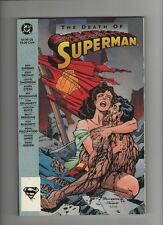 Death Of Superman TPB - Signed By Brett Breeding - (Grade 9.4+) WH