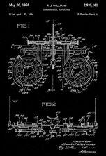 1958 - Optometrical Apparatus - Eye Clinic - Optometrist - Patent Art Poster