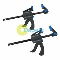 "100mm 4"" Mini Quick Rapid Light Weight Ratchet Bar Clamps 2Pk Woodwork"