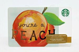 Starbucks Coffee 2014 Gift Card You're a Peach Zero Balance No Value 6103