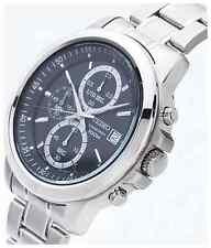 NUOVO Seiko sks445p1 da Uomo con Cronografo Nero Orologio bracciale in acciaio INOX NUOVO CON ETICHETTA