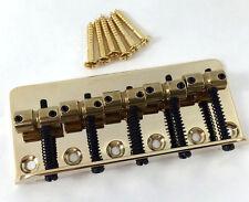 Wilkinson 5-string Gold w/Brass Saddles Bass Bridge WBBC5-GD
