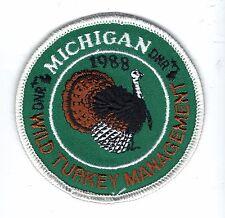 1988 MICHIGAN DNR SUCCESSFUL TURKEY HUNTER PATCH -DEER-BEAR-ELK-MOOSE-FISHING