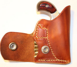 Pocket holster with ammo pouch for North American Arms   NAA 22 short -Leather