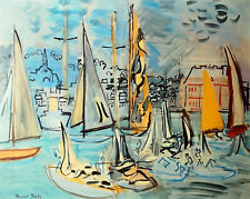 RAUL DUFY - VOILIERS A TROUVILLE                                    ( I-1567/0 )