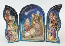 Nativity Triptych Folding/standing Picture