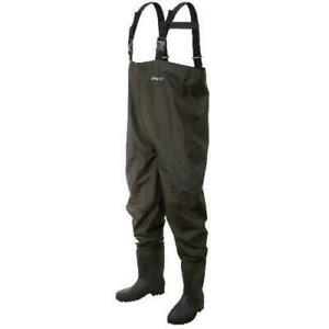 NEW Frogg Toggs Cleated Rana II PVC Chest Fishing Wader, Size 10, Brown