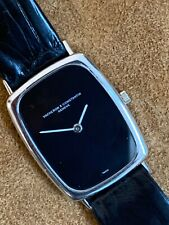 Vacheron Constantin White Gold Onyx Dial Ladies Dressy Watch 30x25 mm.(98)