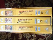 The Adventures of Indiana Jones VHS 3 Video Set Harrison Ford Lucas Film