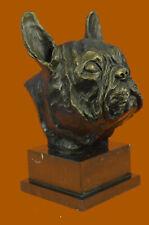 Original Man Best Friend French Bulldog Dog Bronze Sculpture Figurine Art Deco