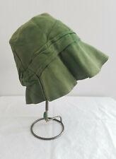 Antique*20s*Fashion Sportswear Los Angeles*pea suede* Cloche/bucket hat* small*