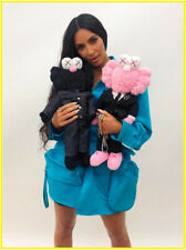 KAWS BFF OriginalFake Plush Doll Black Pink Soft Sesame Street Stuffed 2Pcs/Set