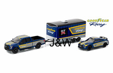 Greenlight Nissan GT-R R35 and F150 2015 w/ Car Hauler Goodyear 51061C 1/64