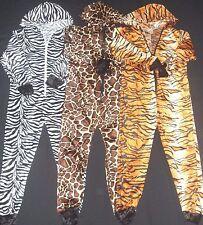 Fancy Dress All in One Animal Print Tiger/Zebra/Giraffe Unisex Child&Adult Sizes
