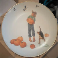 3 ITEMS-NORMAN ROCKWELL COLLECTOR PLATES-IN ORIGINAL BOX-IN GREAT CONDITION!!