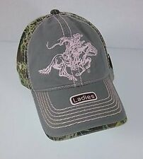 Winchester Horse & Rider Grey / Realtree Max 1 Camo Embroidered Ladies Cap / Hat