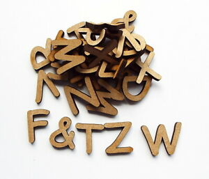 wooden letters (2 cm) full alphabet x 4 over 110 pieces 3 mm MDF comic font