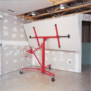Profession Mobile 11ft Drywall Hoist Plasterboard Lifter Caster Panel Sheet Lift