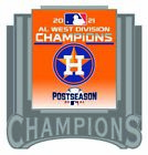2021 HOUSTON ASTROS AMERICAN LEAGUE PIN WEST DIVISION CHAMPION WORLD SERIES