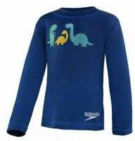SPEEDO UV Long Sleeve Swim Tee, Boys Size XS 6, UPF 50+  Blue