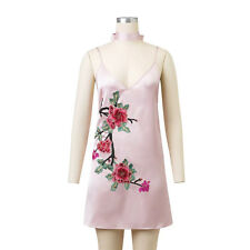 Sexy!Damen SOMMER Freizeit Cocktailkleid Minikleid Strand Party Kleid Gr S~XL