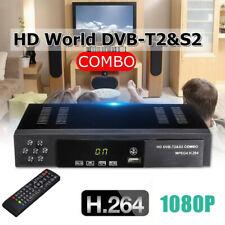 Tuner Decoder DVB-T2+S2 Combo HD 1080P Satellite Receiver HDTV Settop TV Box