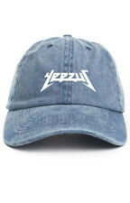 """Yeezus"" Custom Unstructured Denim Baseball Dad Hat Cap Glastonbury New"