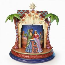 Jim Shore Night of our Dear Saviors Birth Rotating Musical Nativity NIB#4041088