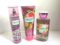 Trio Bath & Body Works Watermelon Lemonade Body Cream Fragrance Mist Shower Gel