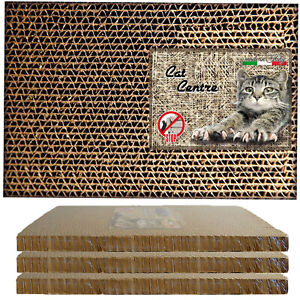 Cat Centre® Cardboard Scratcher Corrugated Scratching Sofa Bed Mat Post Pad