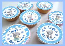 Baby Shower Tatty Teddy Edible Personalised Cupcake Toppers