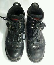 "Harley-Davidson® Men's 6"" Brake Buckle Black Leather Motorcycle Boots Sz 9  GUC"